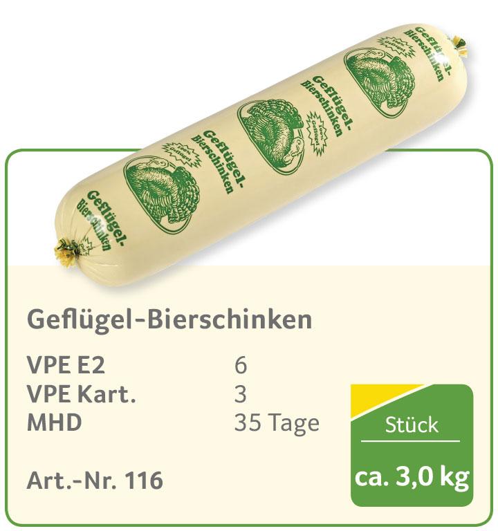 Geflügel-Bierschinken