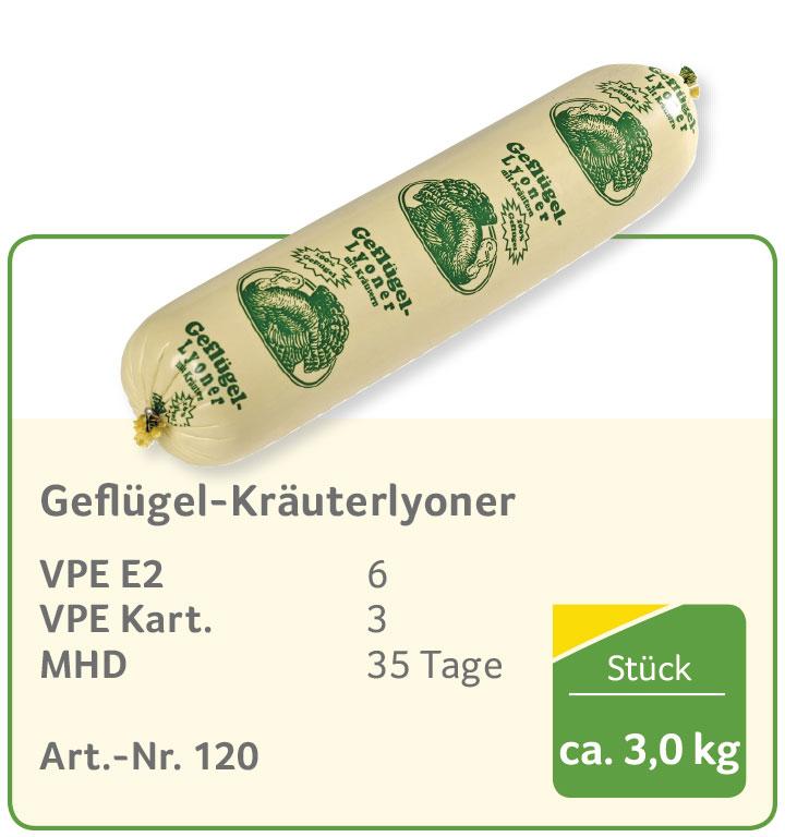 Geflügel-Kräuterlyoner