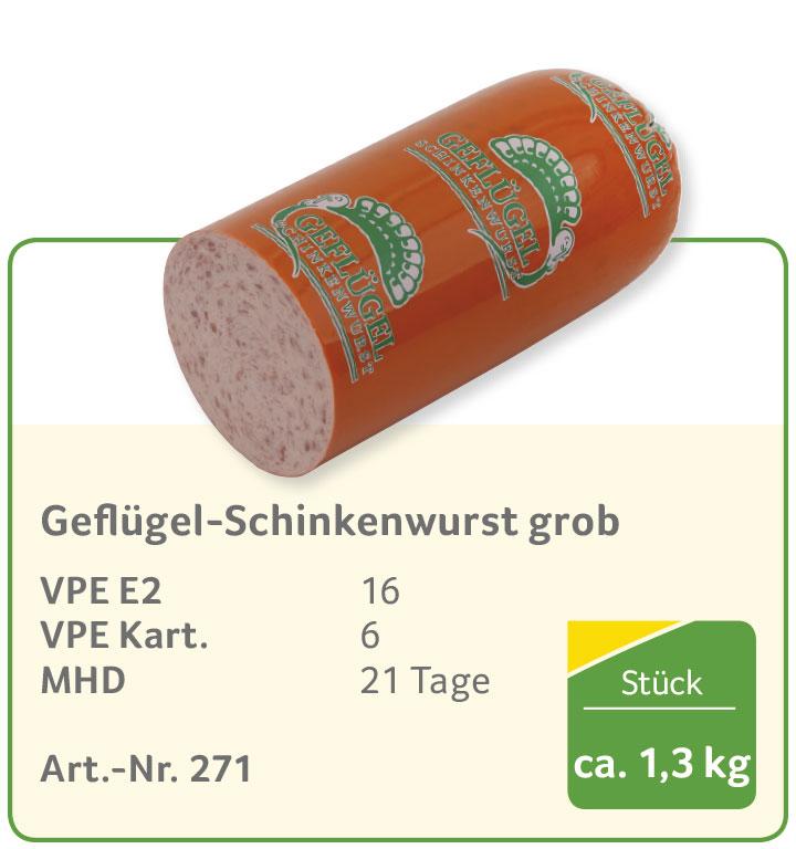 Geflügel-Schinkenwurst grob