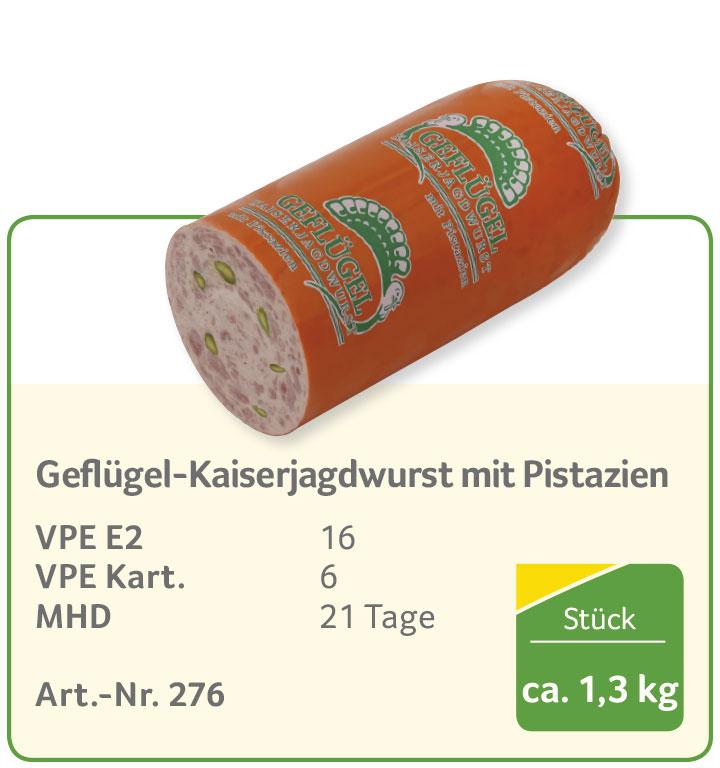 Gefl ügel-Kaiserjagdwurst mit Pistazien