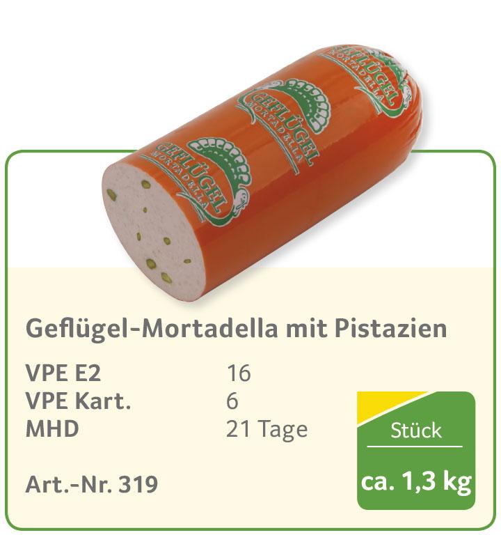 Geflügel-Mortadella mit Pistazien