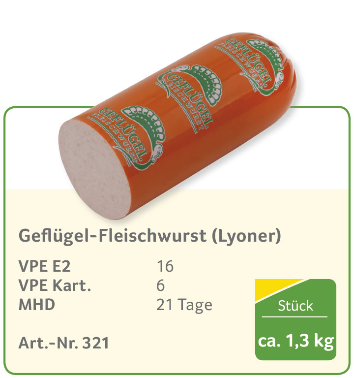 Geflügel-Fleischwurst (Lyoner)